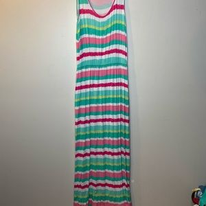 Vineyard Vines Womens Medium Maxi Dress Stripes